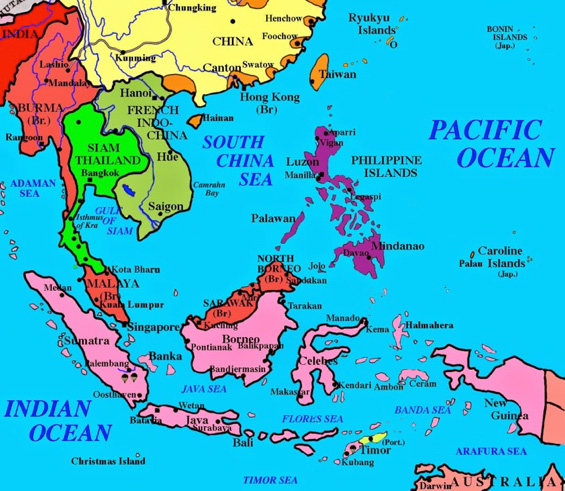 Henk brouwers history henk brouwer prisoner of war at changi map of south east asia just before wwii gumiabroncs Images